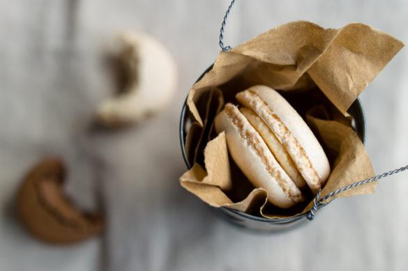 Macaron in tin can