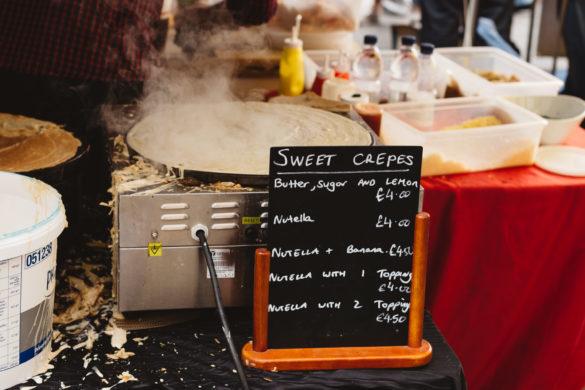 Street food crepe market stall