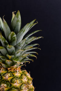 Pineapple fruit on table
