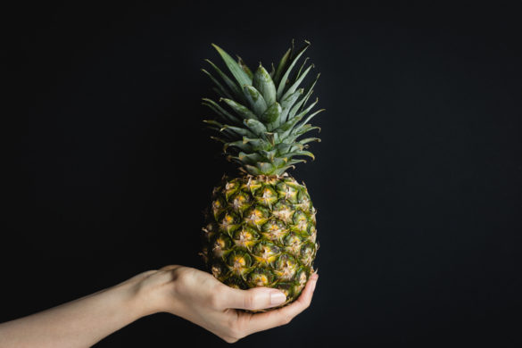 Pineapple in Palm of Hand