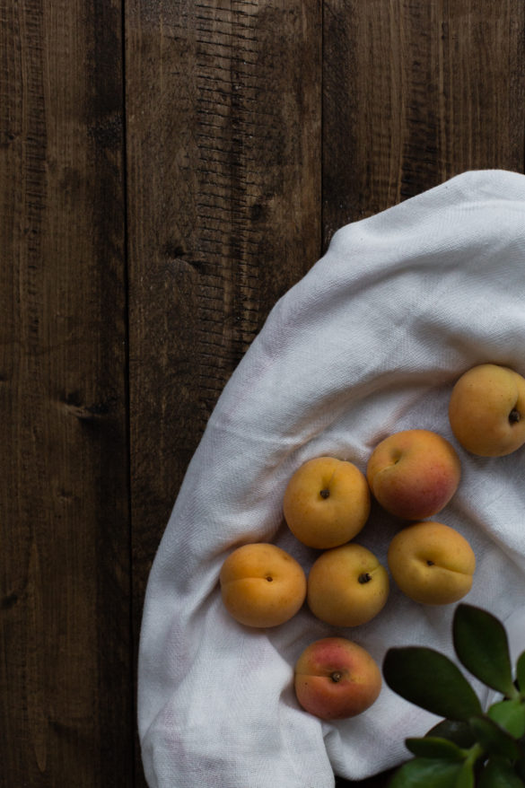 Apricot fruit on table