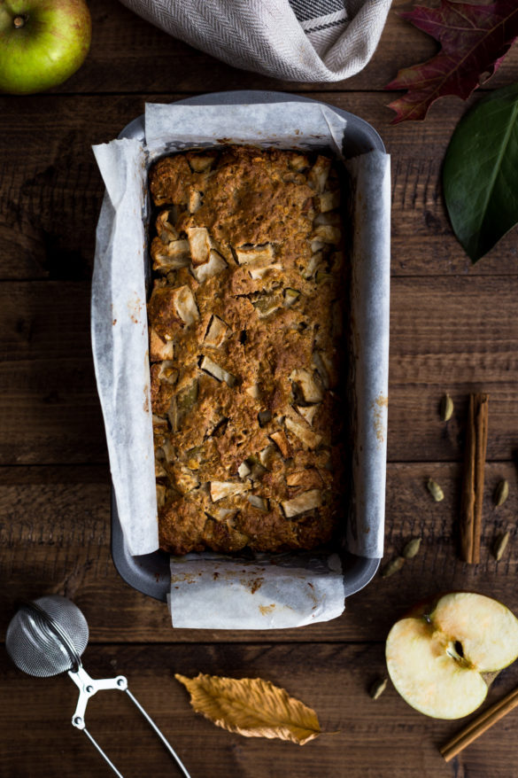 Apple Chai Spiced Loaf on table