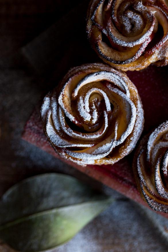 Single Autumn Apple Rose Tart