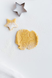 Cookie Dough in Star Shape on White Table