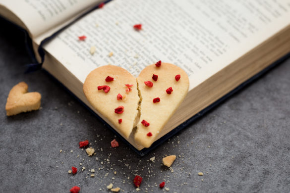 Broken Heart Biscuit on Book