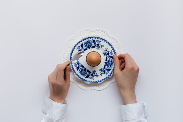 Boiled Egg on Vintage Plate