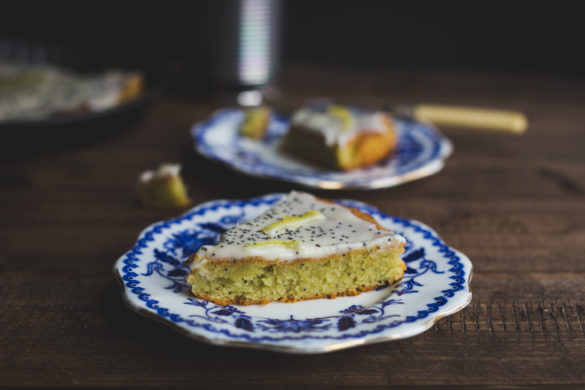Slice of Avocado Cake on Plate