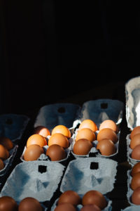Fresh Eggs at Market